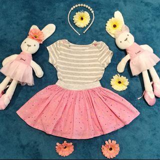 Mothercare baby girl dress raya dress play dress pink sprinkles