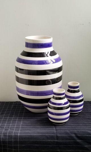 1 big + 2 small ceramic vases