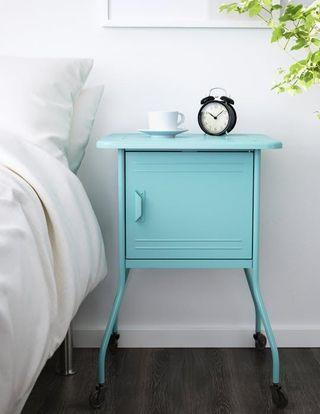 IKEA VETTRE Bedside Table in Turquoise