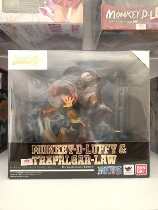 Figuarts Zero Luffy & Law anniversary set one piece