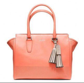 Coach Coral Leather Handbag