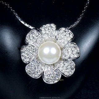 珍珠林~賠售出清.太陽花~10MM珍珠墬#067