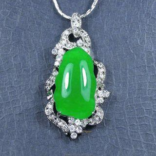 珍珠林~翠玉玉墬~巴洛克翠玉主石完美設計.高貴典雅#085