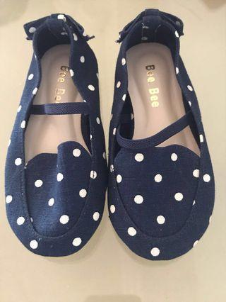 Blue polka dots shoes