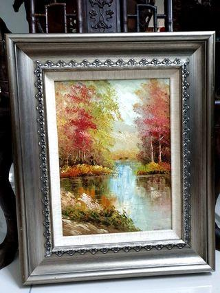 Oil painting  art comes with thick frame