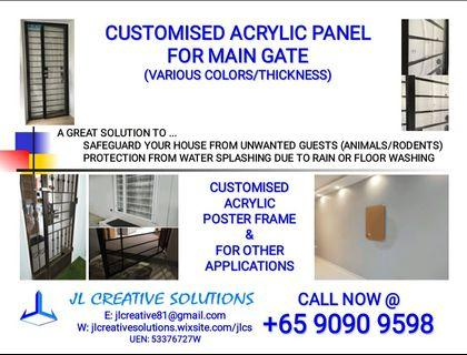 Customised Acrylic Panel For Main Gate