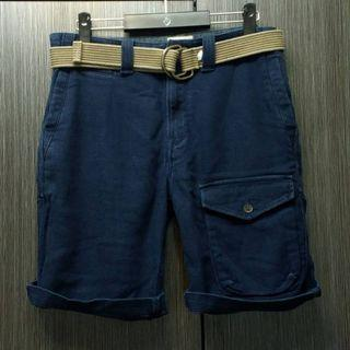Timberland  男深藍工裝多口袋休閒短褲W33