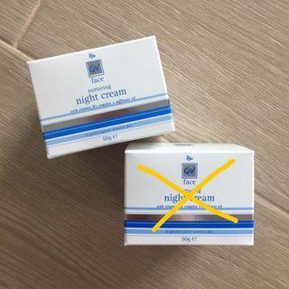 澳洲QV face nurturing night cream 舒敏紅籽油修護滋養奇效霜 50g
