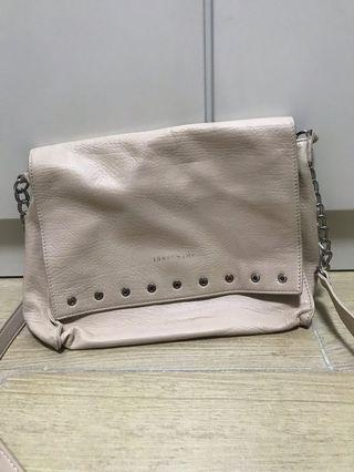 Longchamp pink leather bag
