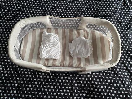 Swaddle me by your side co sleeper