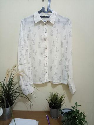Kemeja HnM / H&M bunny shirt