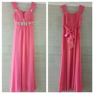 Dress pesta pink soft
