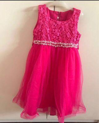 Girls princess dress pink new
