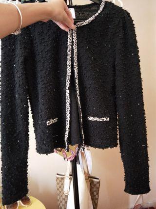 🚚 Black Korean Style Outerwear