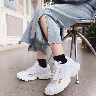 Adidas Originals Falcon 玫瑰金 金色 白色 鏡面 厚底 老爹鞋 增高 EE8838