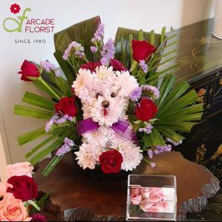 "My Little Poodle ""fresh"" flower | Rose Flower | Flower Bouquet | Flower | Flowers | Fresh Flower | Rose | Roses"