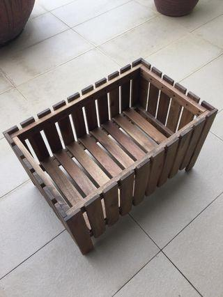 Outdoor flower wooden stand/stool