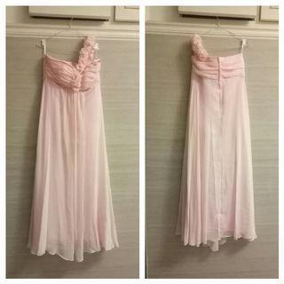 Gaun / dress pesta soft pink