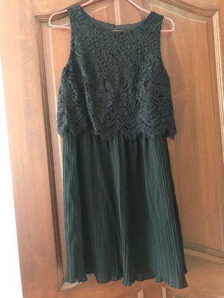🚚 Black Lace Overlay Dress