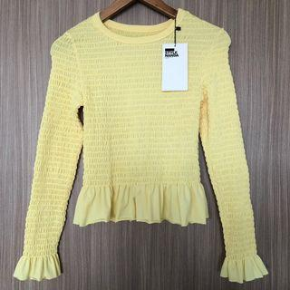 BNWT Style Nanda Shirred Bodice Top Yellow