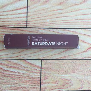 Wardah Exclusive Matte Lip Cream Saturdate Night