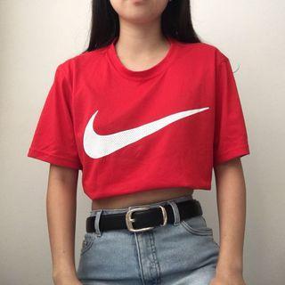 Nike red swoosh t-shirt