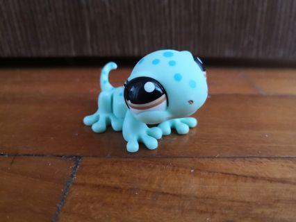 LPS Blue Green Gecko Lizard Littlest Pet Shop