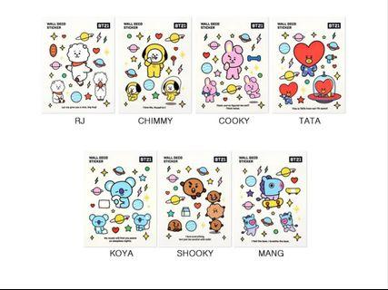 [Preorder] BT21 Deco Sticker Sheet (Official Merchandise)