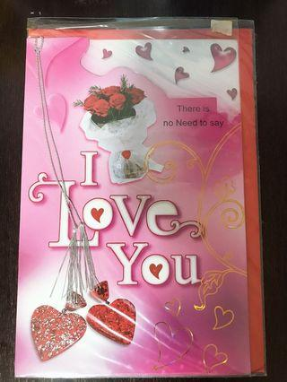 Brand New 'I Love You' Greeting Card