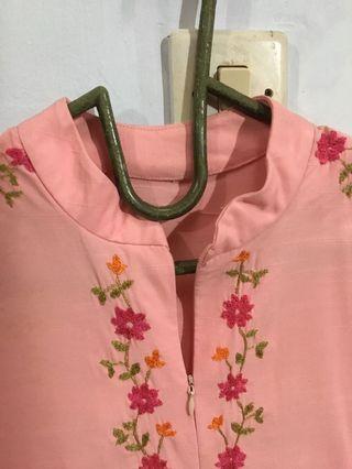 #BAPAU atasan pink motif