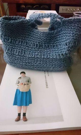 🚚 純麻手工編織手提包