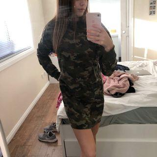 BNWT Camo Long-Sleeve Dress