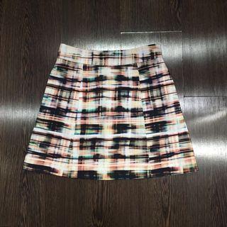 GG<5 GG5 Checkered A-Line Skirt