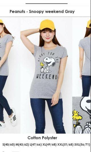 T-shirt snoopy dog gray kaos snoopy original