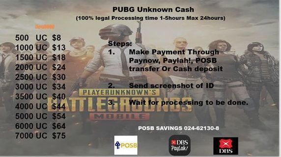Cheap PUBG Unkown Cash