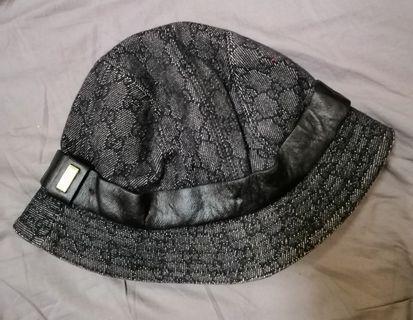 GUCCI monogram jeans hat.