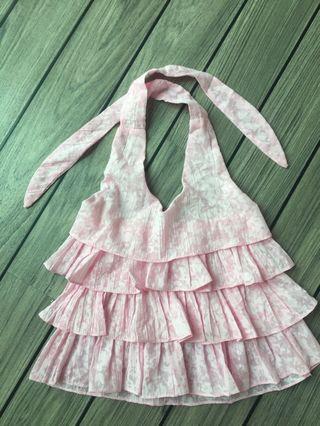 粉紅色上衣 Pink halter top