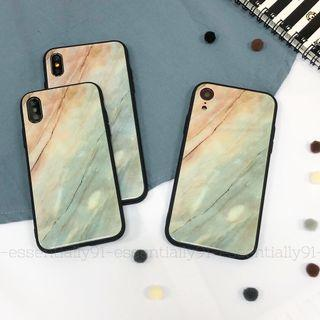Grey Marble Tempered Glass Phone Case