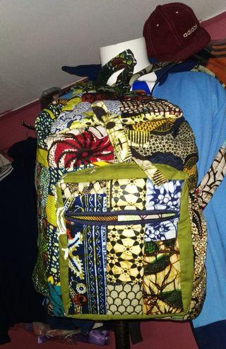 Handmade backpack flora