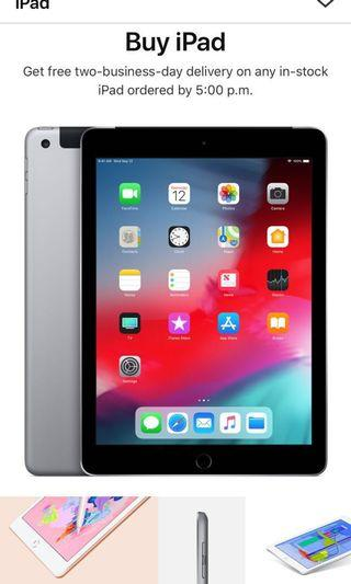 "Brand new iPad 9.7"" 128GB space grey WiFi + Cellular"