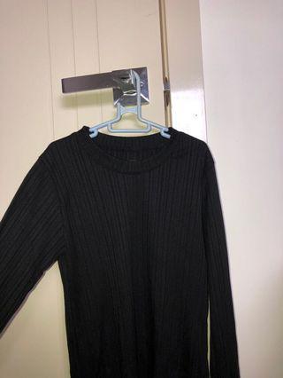 Black knit long sleeve