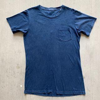 🇯🇵Vintage Blue Blue Japan Pocket Tee 古著 古着 藍染 日本製