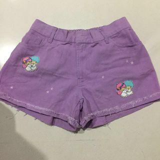 Twinkle Star Big Size Purple Short