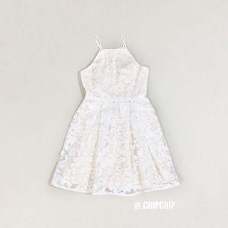 (S) Love Bonito Floral Jacquard Mesh Dress
