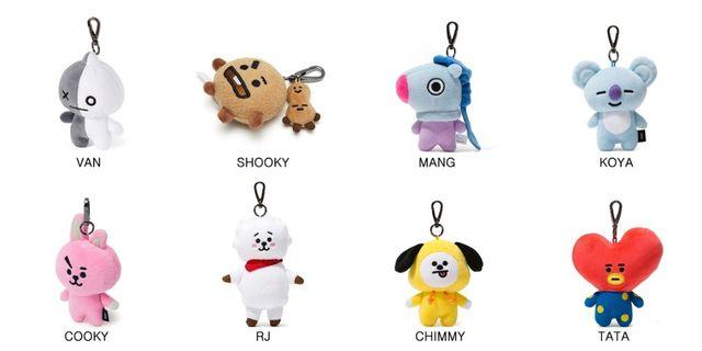 [Preorder] BT21 Doll Bag Charm (Official Merchandise)