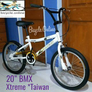 "20"" Classic White BMX. Brand new bicycle, Xtreme *Taiwan"