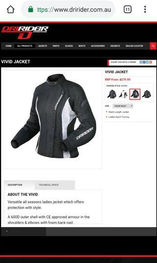 DRIRIDER VIVID Women motorcycle jacket