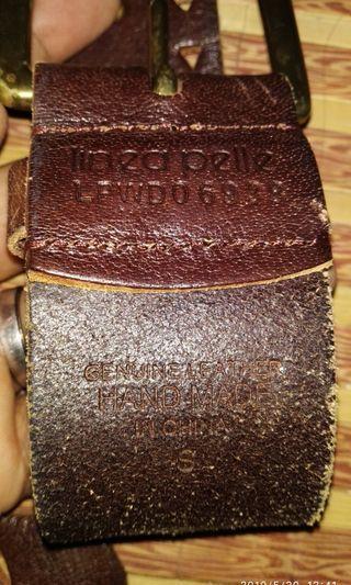 Linea pelle handmade belt