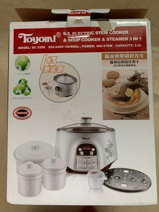 Toyomi 3 in 1 cooker: steamer, stew and soup cooker