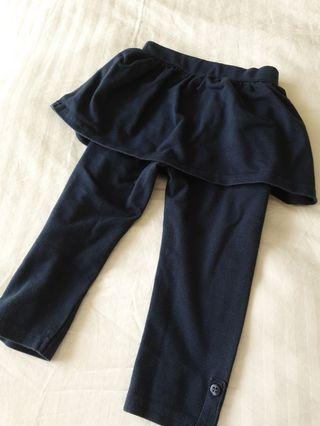 Mothercare girls stretchable 2-in1 skirt pants (Free mailing)